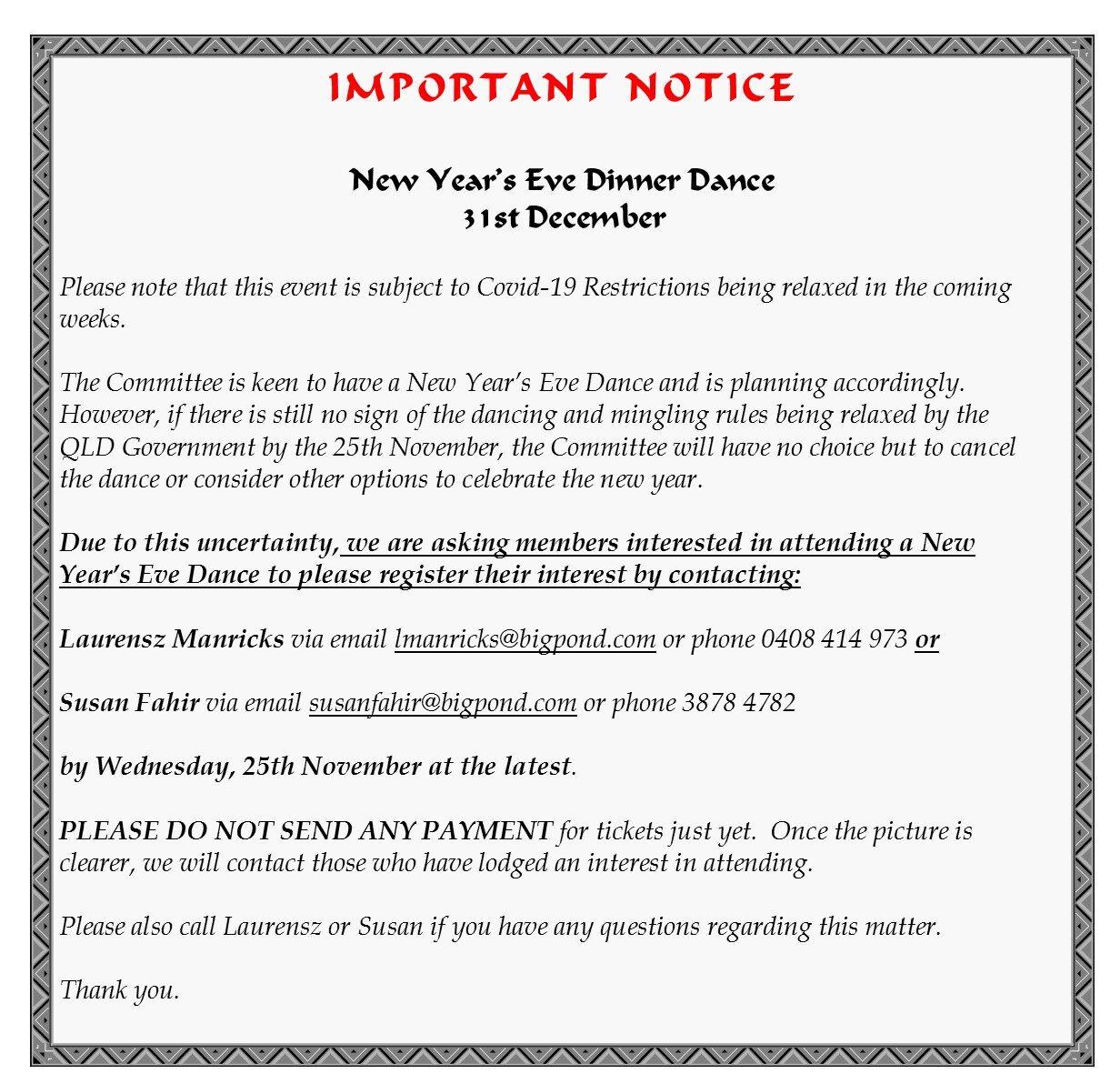NYE Notice